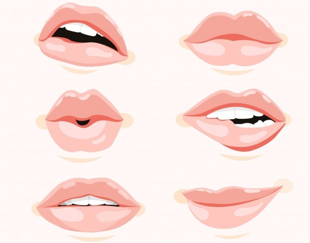 beautiful lips set1